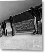 Black And White Spark Plug Metal Print by Wilma  Birdwell