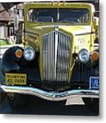 Black And Yellow Metal Print by Steven Parker
