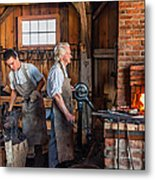 Blacksmith And Apprentice 2 Metal Print by Steve Harrington