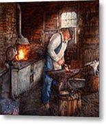 Blacksmith - The Smith Metal Print by Mike Savad