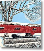 Blankets Of Winter Metal Print by David Linton