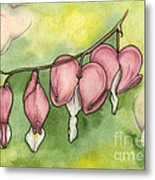 Bleeding Hearts Metal Print by Nora Blansett