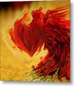Blood Red Heart Metal Print by Linda Sannuti