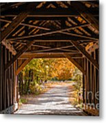 Blow-me-down Covered Bridge Cornish New Hampshire Metal Print by Edward Fielding