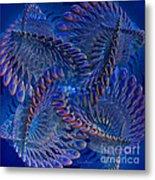 Blue 3 Metal Print by Deborah Benoit