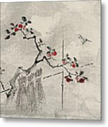 Blue Bird Metal Print by Aged Pixel