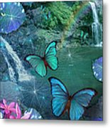 Blue Butterfly Dream Metal Print by Alixandra Mullins