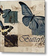 Blue Butterfly - J118118115-01a Metal Print by Variance Collections