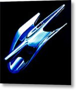 Blue Chrome Jet Metal Print by Phil 'motography' Clark
