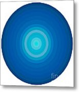 Blue Circles Metal Print by Frank Tschakert
