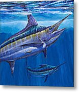 Blue Marlin Bite Off001 Metal Print by Carey Chen