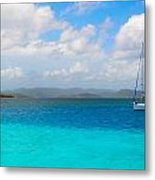 Blue Metal Print by Michael Glenn