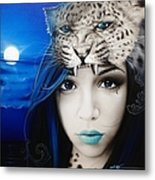 'blue Moon' Metal Print by Christian Chapman Art