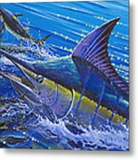 Blue Persuader  Metal Print by Carey Chen