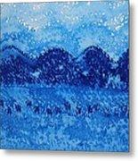 Blue Ridge Original Painting Metal Print by Sol Luckman