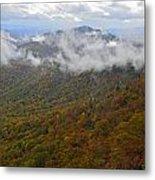 Blue Ridge Parkway Mountain View Metal Print by Susan Leggett