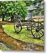Blue Ridge Parkway Vintage Wagon In The Rain I Metal Print by Dan Carmichael
