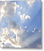 Blue Sky With Sun Rays Metal Print by Elena Elisseeva