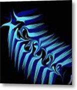 Blue Slug Metal Print by Michael Jordan