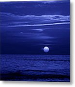 Blue Sunset Metal Print by Sandy Keeton