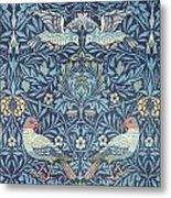 Blue Tapestry Metal Print by William Morris