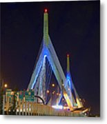 Blue Zakim Metal Print by Joann Vitali