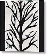 Bluebird In A Pear Tree Metal Print by Barbara St Jean