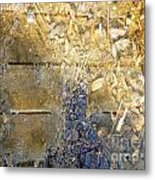Bluegold Woodshed Flooring Metal Print by Brian Boyle