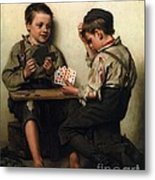 Bluffing Metal Print by Pg Reproductions