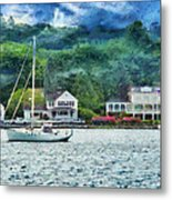 Boat - A Good Day To Sail Metal Print by Mike Savad