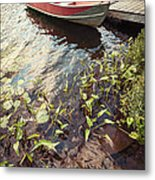 Boat At Dock  Metal Print by Elena Elisseeva