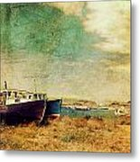 Boat Dreams On A Hill Metal Print by Tracy Munson