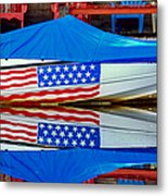 Boat For Freedom  Metal Print by Debra Forand