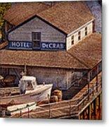 Boat - Tuckerton Seaport - Hotel Decrab  Metal Print by Mike Savad