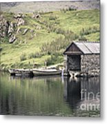 Boathouse Metal Print by Jane Rix