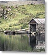 Boathouse Metal Print by Jane Rix