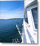 Boating On Lake Metal Print by Elena Elisseeva