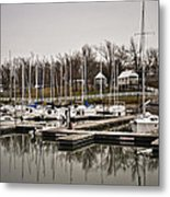 Boats And Cottages On Overcast Day Metal Print by Greg Jackson
