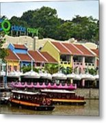 Boats At Clarke Quay Singapore River Metal Print by Imran Ahmed