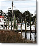 Boats At Little River Metal Print by John Rizzuto