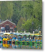 Boats In A Park, Beijing Metal Print by John Shaw