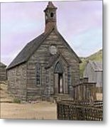 Bodie Church Metal Print by Mel Felix