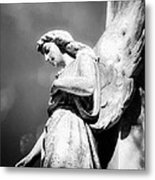 Bokeh Angel In Infrared Metal Print by Sonja Quintero