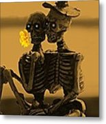 Bones In Love  Metal Print by David Dehner