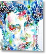 Bono Watercolor Portrait.1 Metal Print by Fabrizio Cassetta