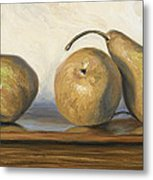 Bosc Pears Metal Print by Lucie Bilodeau