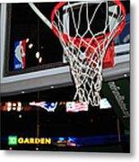 Boston Celtics' Basket Metal Print by Mike Martin