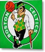 Boston Celtics Canvas Metal Print by Dan Sproul