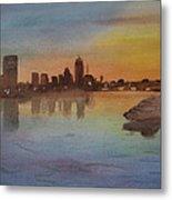 Boston Charles River At Sunset  Metal Print by Donna Walsh