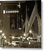 Boston Garder And Side Street Metal Print by John McGraw